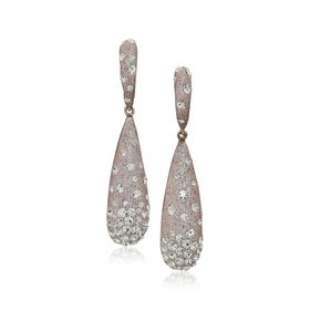 Teardrop Earrings with Crystals