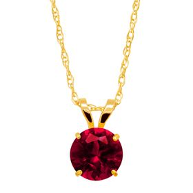 1 ct Ruby Round-Cut Solitaire Pendant