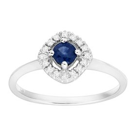 1/3 ct Sapphire Ring with Diamonds