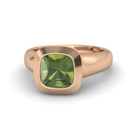 Cushion Green Tourmaline 18K Rose Gold Ring