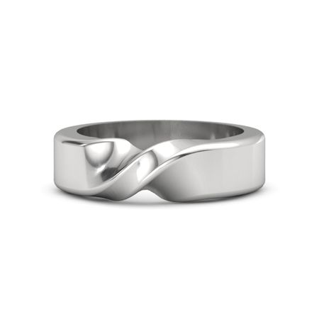 Mens Sterling Silver Ring Mens Mobius Band Gemvara