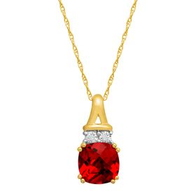 1 3/4 ct Ruby Pendant with Diamonds