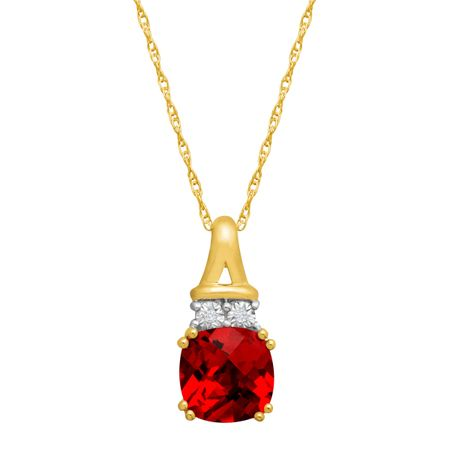 1 34 ct created ruby pendant with diamonds in 10k gold 1 34 ct 1 34 ct ruby pendant with diamonds aloadofball Gallery