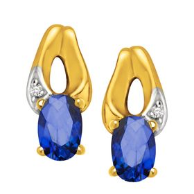 3/4 ct Sapphire Drop Earrings
