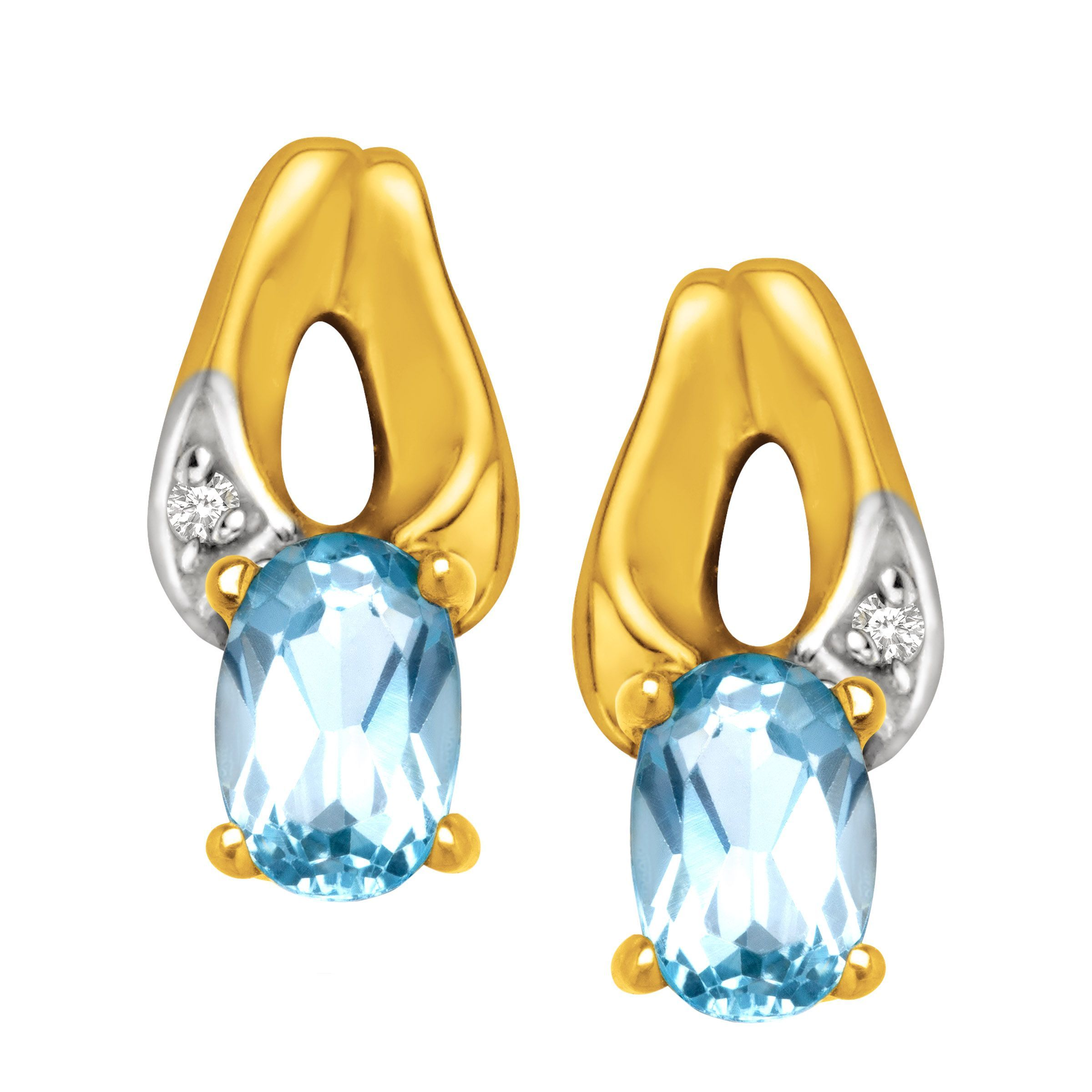 stud earrings ctw marine in white aqua qp gold aquamarine