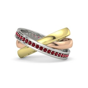 14K Rose Gold Ring with Ruby