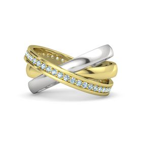 14K Yellow Gold Ring with Aquamarine