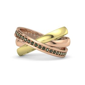 18K Rose Gold Ring with Green Tourmaline