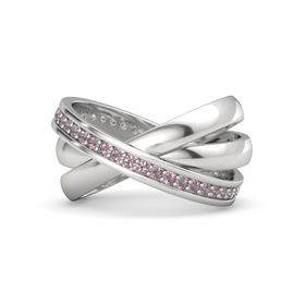Sterling Silver Ring with Rhodolite Garnet
