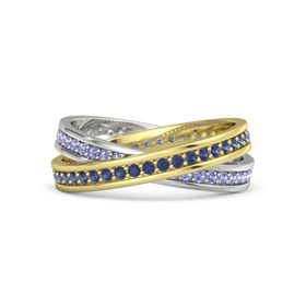 14K Yellow Gold Ring with Sapphire & Iolite