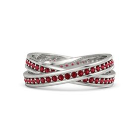 Palladium Ring with Ruby