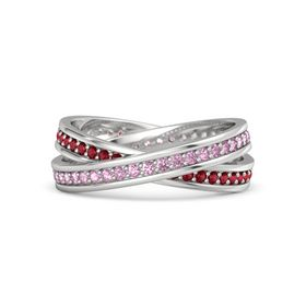 Sterling Silver Ring with Pink Sapphire and Ruby