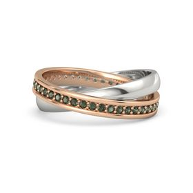 14K Rose Gold Ring with Green Tourmaline