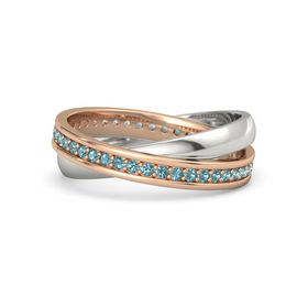 14K Rose Gold Ring with London Blue Topaz