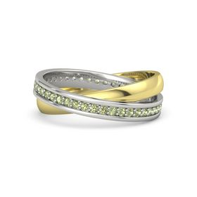 14K White Gold Ring with Peridot