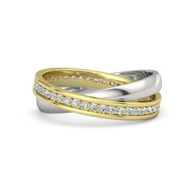 14K Yellow Gold Ring with Diamond