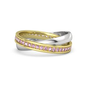 14K Yellow Gold Ring with Pink Sapphire