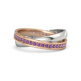 18K Rose Gold Ring with Amethyst