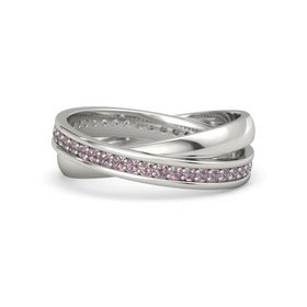 18K White Gold Ring with Rhodolite Garnet