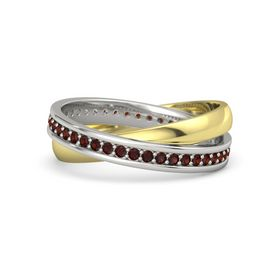 Platinum Ring with Red Garnet