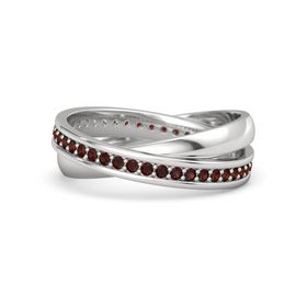 Sterling Silver Ring with Red Garnet