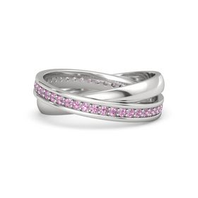 Sterling Silver Ring with Pink Tourmaline