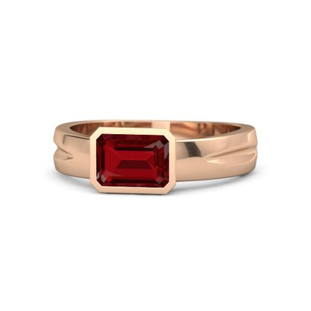 Stunning Bride Oval Red Garnet Gemstone Gold Eternity Rings Wedding Jewelry 7-10