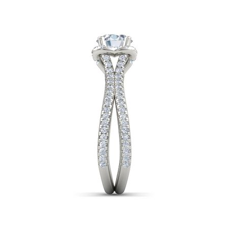 Abbey Collection Brilliant Split Pave Ring