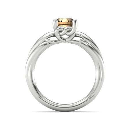Adora Knot Solitaire Ring