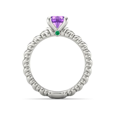 Ecstatic Heart Solitaire Ring