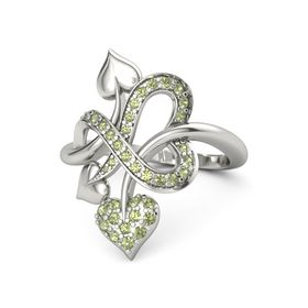 Platinum Ring with Peridot