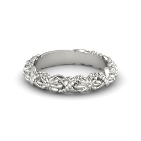 Platinum Ring Knotted Bouquet Band Gemvara