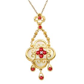 3/8 ct Ruby & Mother-of-Pearl Pendant