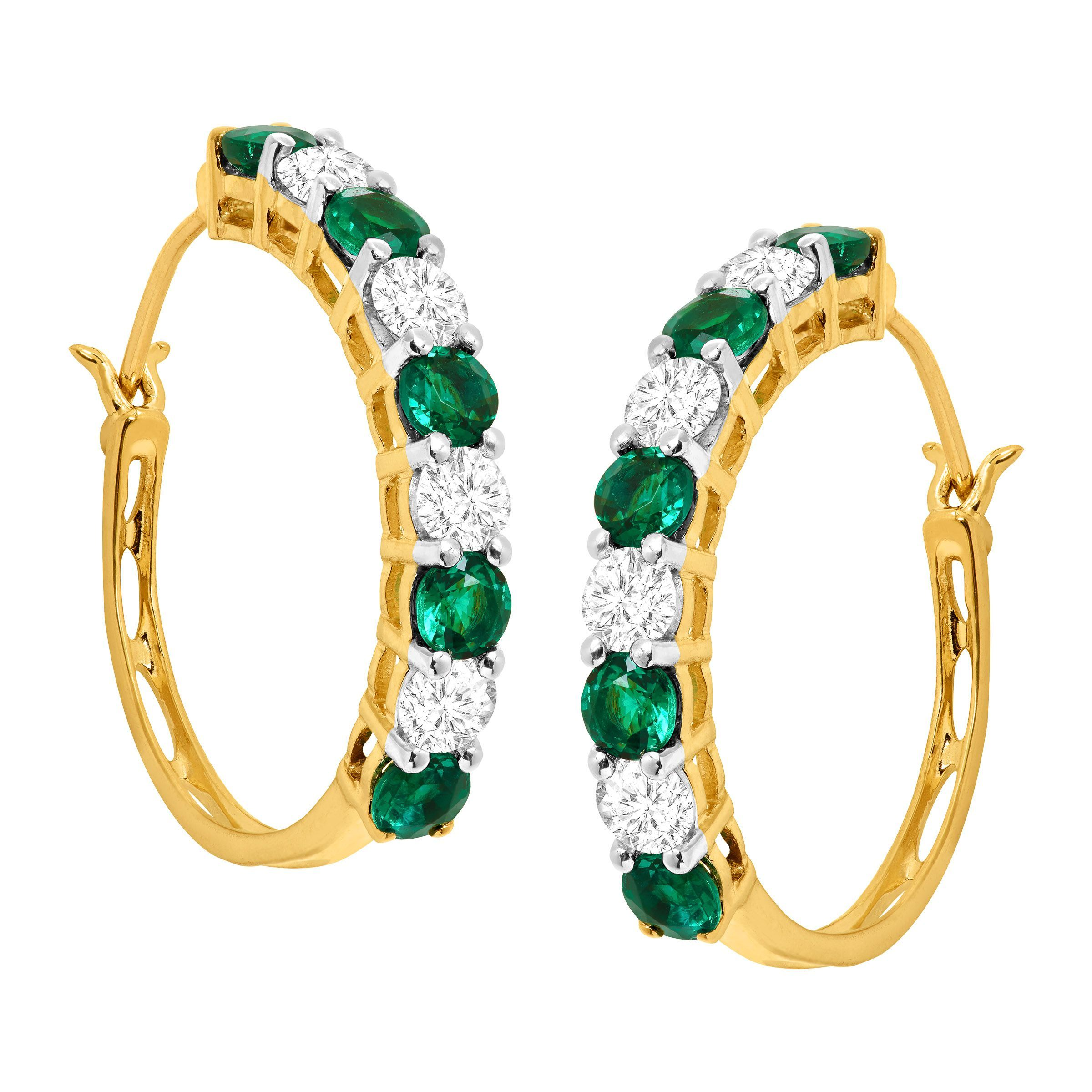 emerald jewellery diamond diamondemerald rose p earrings effy gold