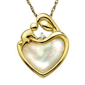 Mother & Child Heart Pendant