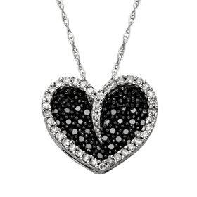 3/8 ct Black & White Diamond Pendant