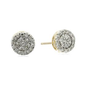 1/5 ct Diamond Composite Stud Earrings
