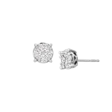 c8cd3c791be7dd 1/2 ct Diamond Composite Stud Earrings in 10K White Gold   1/2 ct ...