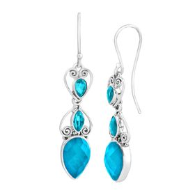 Celestial Paraiba Quartz Drop Earrings