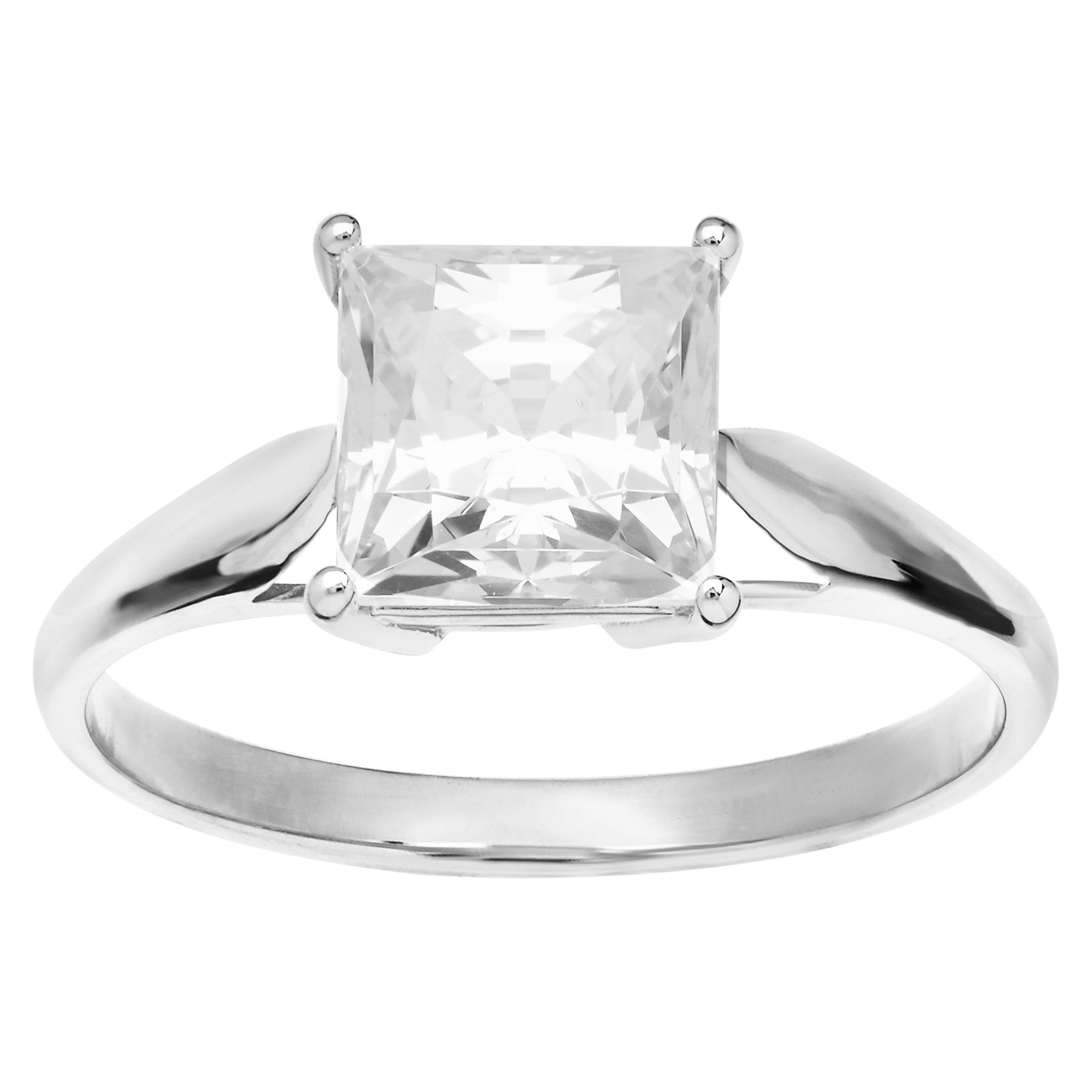 3 Ct Cubic Zirconia Engagement Ring In 10k White Gold Ebay