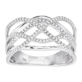 1/3 ct Diamond Ornate Band Ring