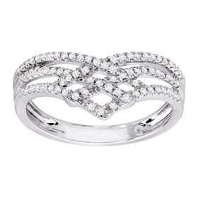 1/4 ct Chevron Diamond Ring