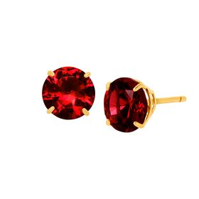 2 ct Ruby Round-Cut Stud Earrings