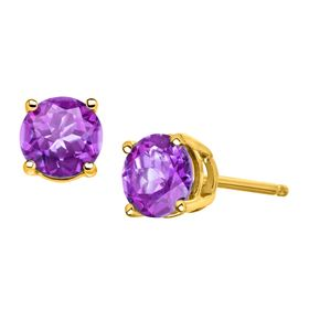 3/4 ct Amethyst Stud Earrings