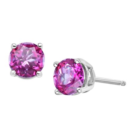 1 5 Ct Rose Mystic Topaz Earrings