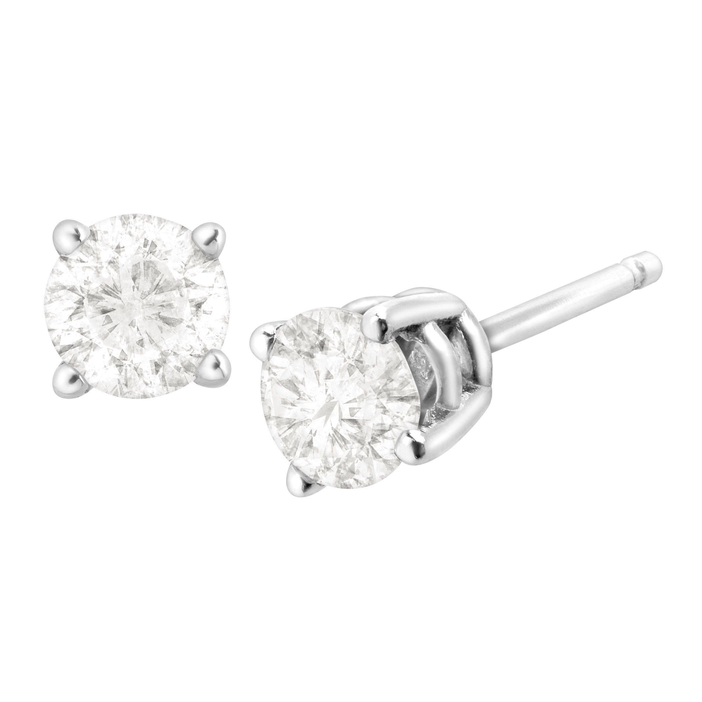 jewellery brilliantcut classic brilliant earrings aurora diamond cut claw studearrings stud