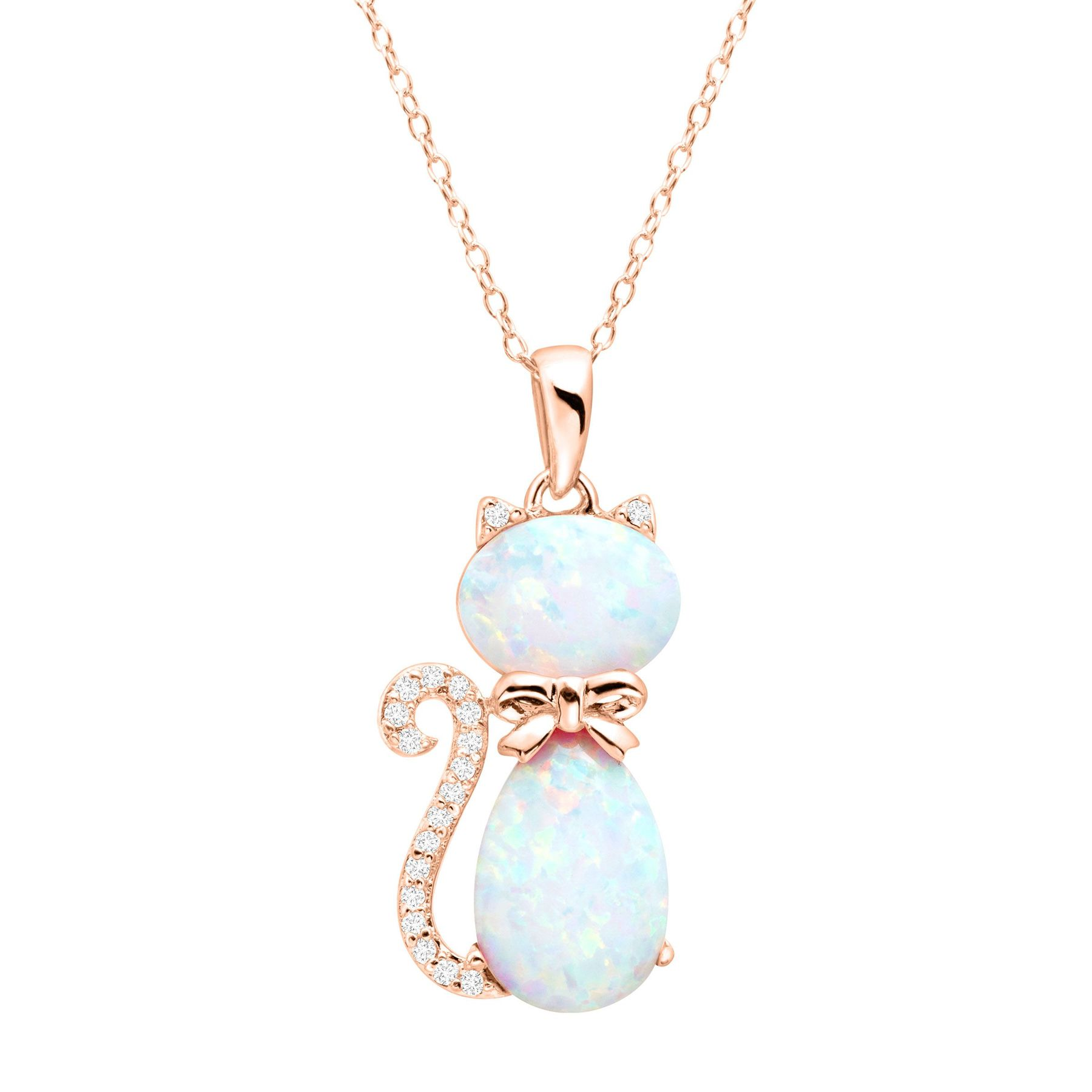 white product overstock watches preciosa gold necklace on pendant la life orders over shipping tree jewelry free silver sterling plated opal of