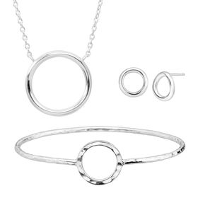 Karma Necklace, Earrings, & Bangle Set