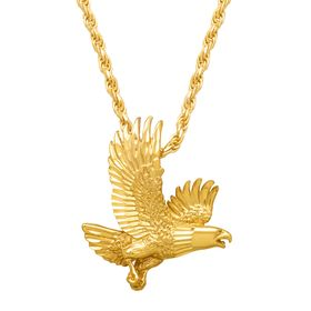 Men's Bald Eagle Pendant Necklace