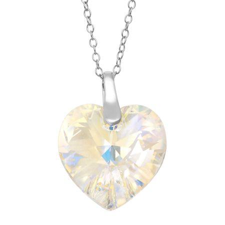 Crystaluxe heart pendant with aurora borealis swarovski crystal in heart pendant with aurora borealis swarovski crystal aloadofball Images